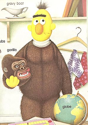 BERT IN GORILLA SUIT