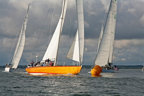 Rounding the weather mark, Race 2 by Milford Yacht Club Pictures