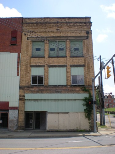 Abandoned Yellow Brick Building