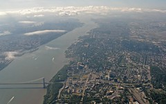 Hudson River, George Washington Bridge and Manhattan and New Jersey (Ernie Orr) Tags: newyork manhattan aerial hudsonriver georgewashingtonbridge