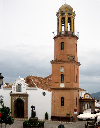 Competa paza church tower