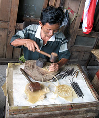 Shadow Puppets Maker / Indonesia, Yogyakarta