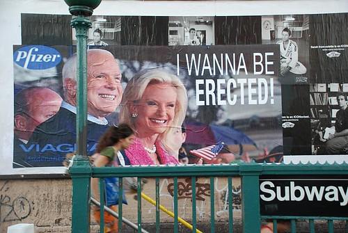 Ron English McCain I Wanna Be Erected poster