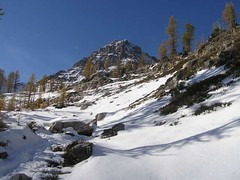 Route up to Black Mtn. and Wing Lake