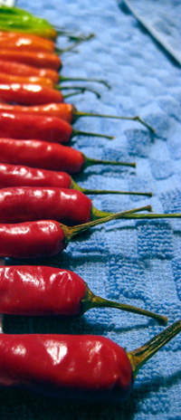 colored chilis
