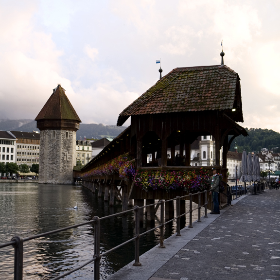 KapellbrŸcke (Chapel Bridge) in Luzern, Switzerland