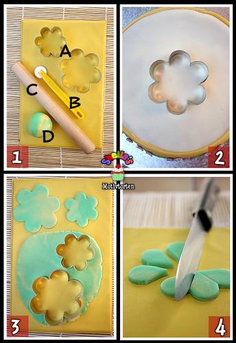 3D Fondant Flower [Step 1-4]