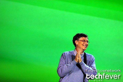 Microsoft founder Bill Gates delivering opening keynote address by TechShowNetwork.