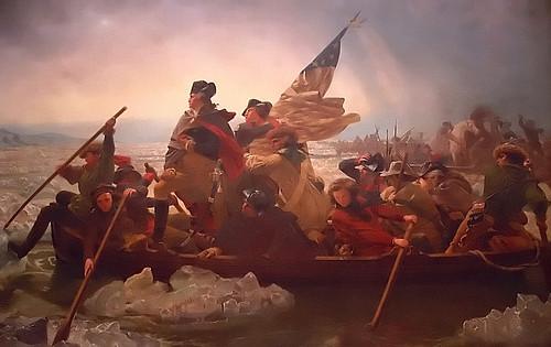 "New York - Metropolitan Museum Of Art ""George Washington Crossing the Delaware"""
