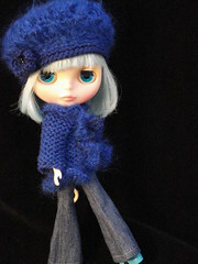Blue Madge jacket and hat