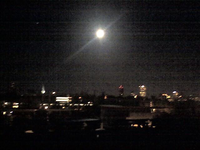 Moonlight over Milwaukee River