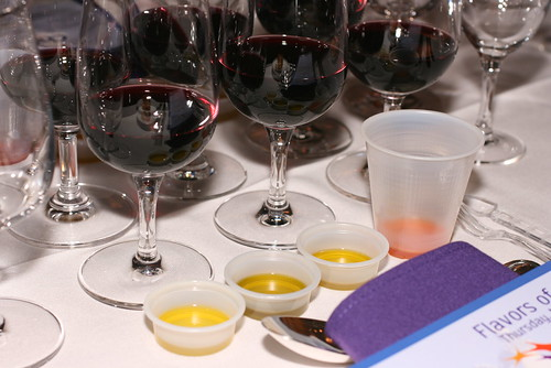 oil tasting and wine tasting