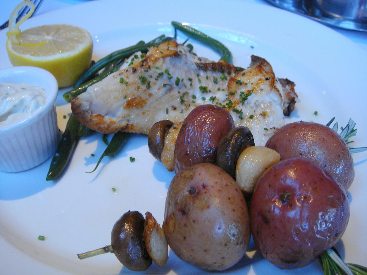 Local Sole with Rosemary Potatoes