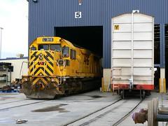 shunting at the SCT terminal (sth475) Tags: railroad winter train wagon clyde gm diesel railway loco railcar covered perth wa locomotive boxcar van arg sct emd freightcar lclass maxicube gt26c l3115 pbhyclass