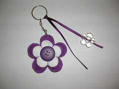 Purple (Feltro Arte) Tags: flor feltro chaveiro