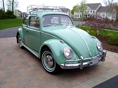 1963 VW Beetle (63vwdriver) Tags: green vw vintage bug volkswagen turquoise beetle 1963
