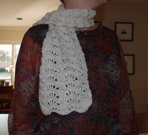 Soy yarn scarf