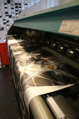 Creating the Dandelion Kimono: Printing