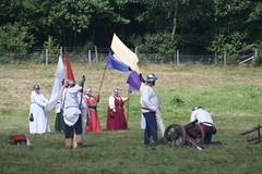 IMG_5358 (jgmdoran) Tags: canon flags archer reenactment 2007 militaryodyssey platemail lancastrians billhook arquebus waroftheroses highmedieval yorkists