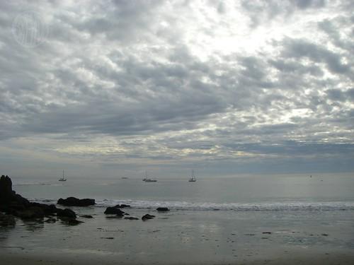 a rare cloudy day