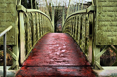 Suspension Bridge (Dan Baillie) Tags: bridge red abstract river scotland nikon suspension walkway portfolio dumfriesandgalloway puddock newtonstewart wigtownshire danbaillie damniwishidtakenthat bailliephotographycouk bailliephotography