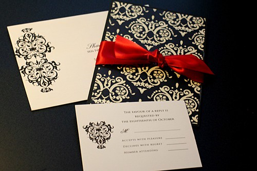 Crysties blog free shipping brand new silver 12x108 organza table black and red damask wedding invitation set filmwisefo Choice Image