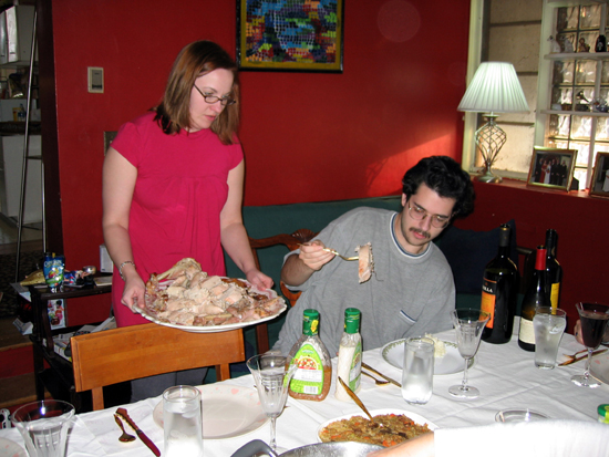 My Sister Serves the Turkey (Click to enlarge)