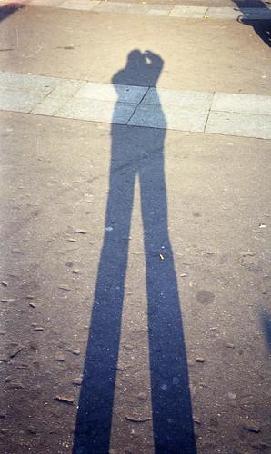 shadow selfportrait paris disposablecamera bastille kodakdisposableiso400noflash
