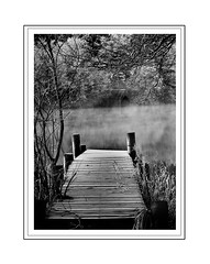 Beyond The Pier (kenny shields) Tags: water mono scotland pier countryside nikon scenic highland loch boathouse ard d300