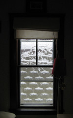 snowWindow (Y Mucho Mas) Tags: winter snow window ventana interiors massachusetts hiver somerville windowview invierno neige walls cinderblock 02144 nieves cinderblockwall