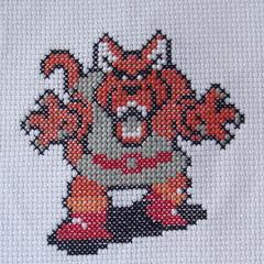 Wolflord (benjibot) Tags: crossstitch crafts videogames crop nes dragonwarrior reshoot
