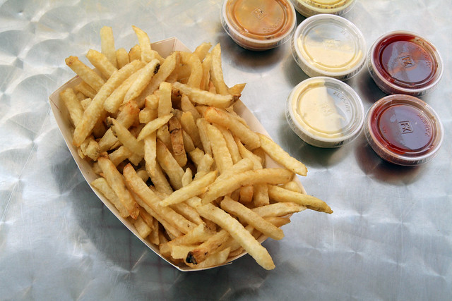 Belgian fries with aioli and housemade ketchup.