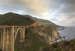 death wish (Andy Kennelly) Tags: world ocean california road bridge beautiful death one 1 coast big crazy highway rocks day arch pacific cloudy dumb curves scenic windy stormy drop cliffs pch edge sur wish bizarre suicidal rugged rapture bixby frightening curvey