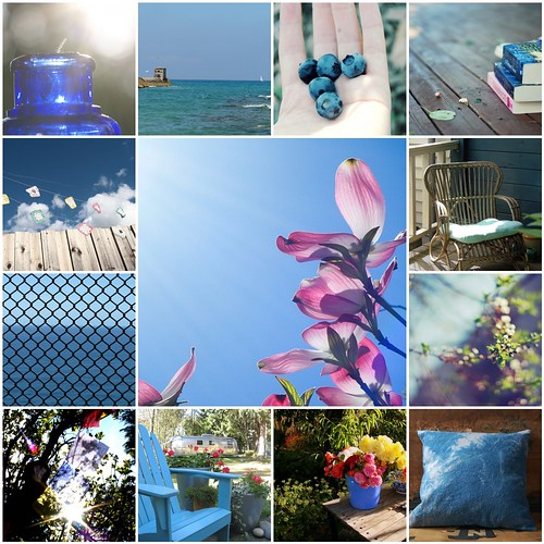 summer blues mosaic