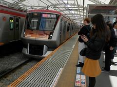 P3080126 (mr_nihei) Tags: girl beauty station japan train tokyo railway hatanodai tokyu