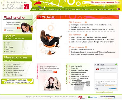 ESC Lille website or WOW 2.0