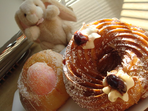 Zeppole, Easter Bread, and Bunny