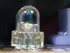 Light-Emitting Diode (LED) (Grant Leavitt) Tags: light display printer board led electronics lcd microscope circuit printed diode emitting ultramacroscope