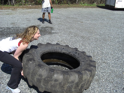 michelle vs. the big tire