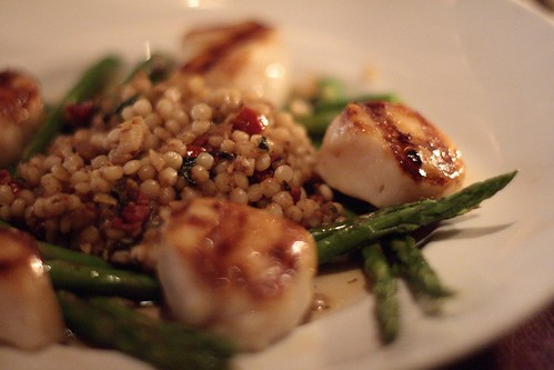Seasons 52: caramelized sea scallops