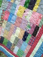 lap quilt #2 detail, stitching