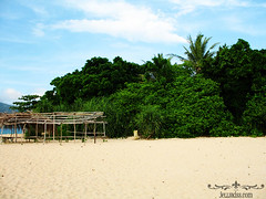 The beach at Aguirangan Island