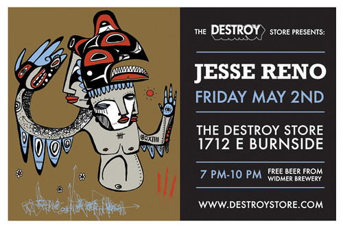 Jesse Reno art Show for Destroy Store store