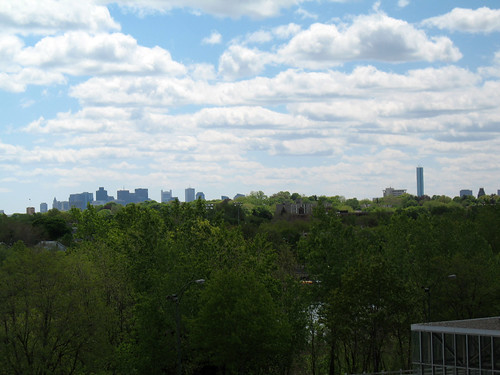 Boston Skyline from Alefwife T Station