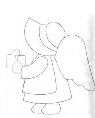 Sunbonnet com presente (Lucia Helena Cesar) Tags: riscos moldes patchcolagem sunbonnets