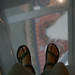 The base of Macao tower (down there) and my feet