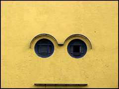 Face ( CHRISTIAN ) Tags: window face yellow architecture facade jaune montral montreal explore fentre faade visage gwim