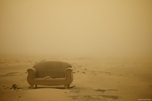 Sand Storm (Stephan Geyer) orange storm abandoned sand desert couch explore sandstorm lonely kuwait explored efs1755mmf28isusm
