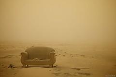 Sand Storm (Stephan Geyer) Tags: orange storm abandoned sand desert couch explore sandstorm lonely kuwait explored efs1755mmf28isusm