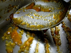 scraping the pot (parttimefarm) Tags: food macro kitchen brasil spoon jam acerola chacara echapora